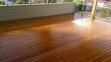 Finished hardwood deck in Thirroul