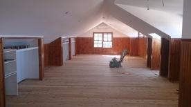 Sanding a huge loft floor in Austinmere