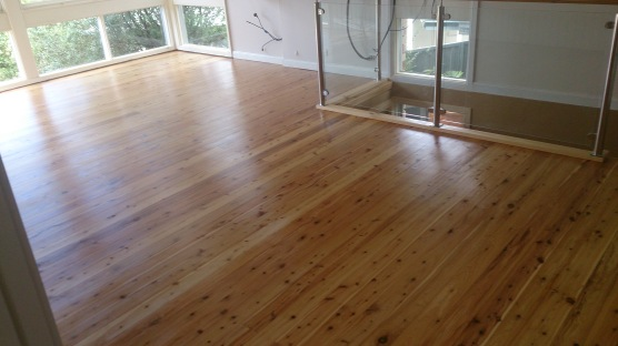 Cypress Pine coated with a water based polyurethane