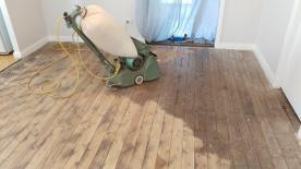Level sanding a very old Cypress Pine floor