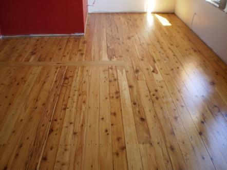 Water based polyurethane on a Cypress Pine floor