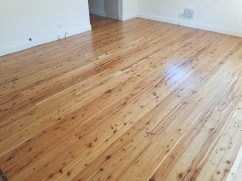 Water based polyurethane on Cypress Pine in Balgownie