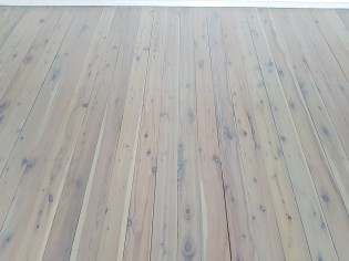 White wash on Cypress Pine with a slight blue tint