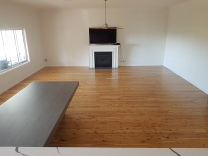 Cypress pine floor in Gwynneville coated with water based polyurethane